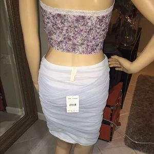 Free people skirt and two tops bundle deal